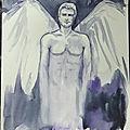 Aquarelle - mon ange - etude 2