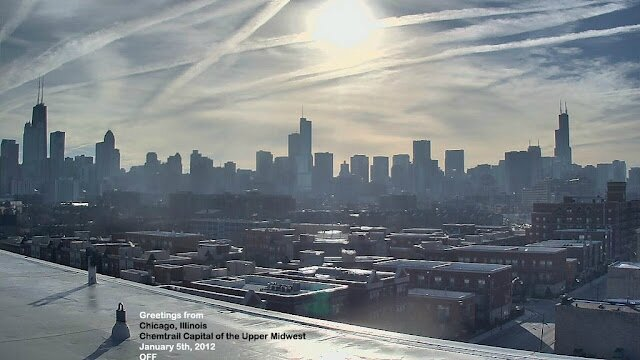chemtrails chicago January 5th 2012 geoengineering skywatch aircrap