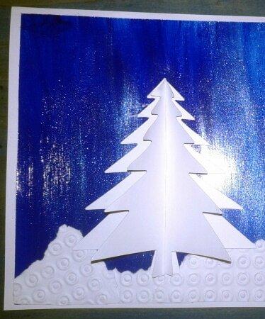 152_Noël et Nouvel an_ Carte Blanc Bleu Argent (25b)