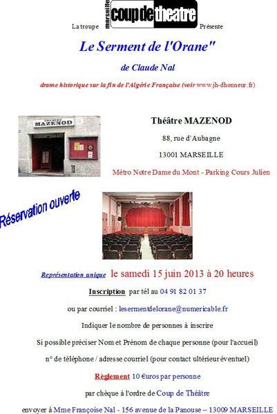 Théatre Mazenod du 15 juin 2013