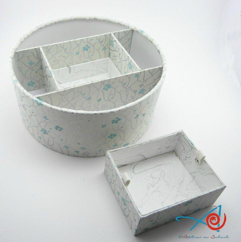 Boîte ronde japonaise ouverte avec compartiment ôté - vue de dessus (Copier)