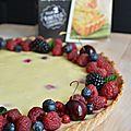 Tarte cheesecake aux fruits rouges et sa pâte brisée aux zestes de citron vert