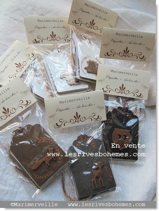 Marimerveille Collection étiquettes Au bois chic