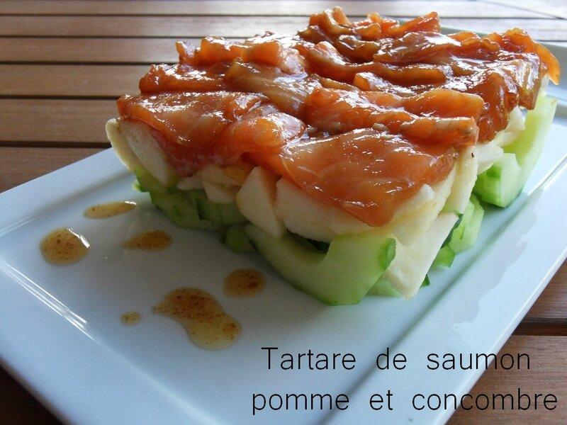 tartare de saumon pomme et concombre1