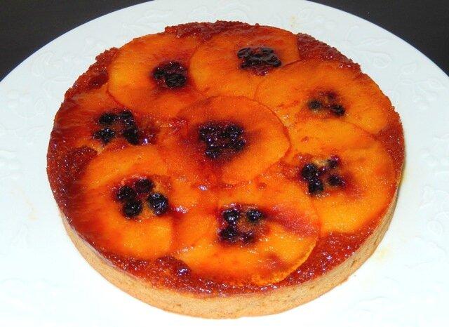 Gâteau renversé pommes cassis