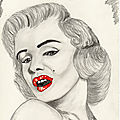 Dessins portrait de stars Américaines