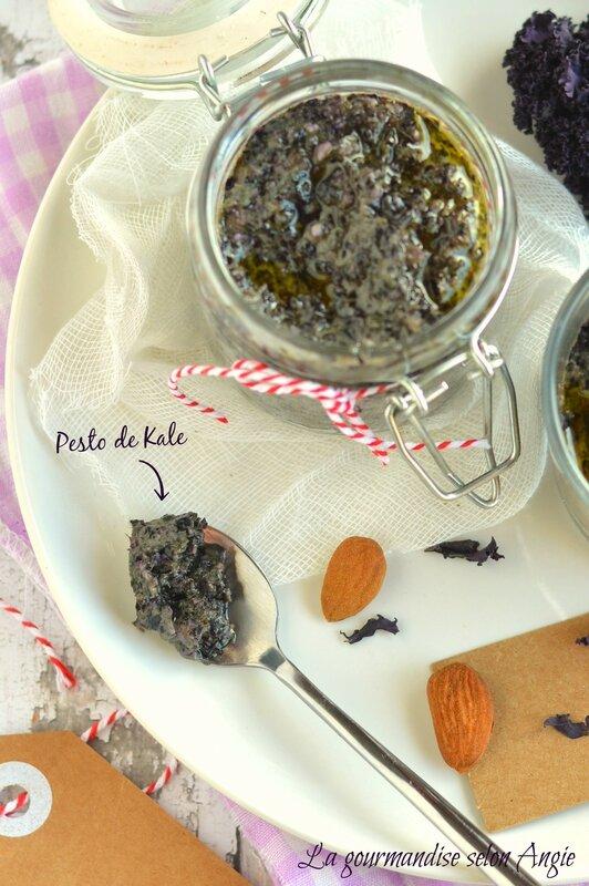 recette de pesto de kale violet vegan 1