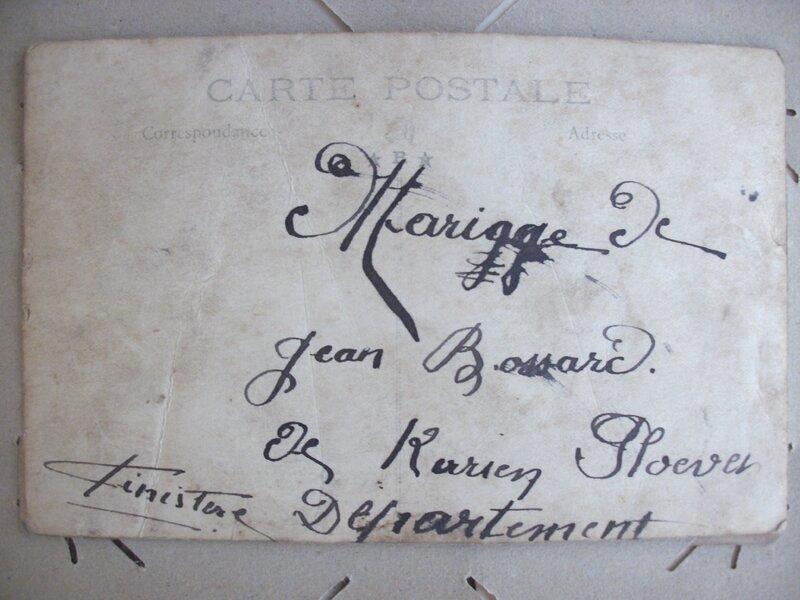 Mariage de Jean Bossard verso