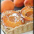 P'tite tarte à l'abricot, mascarpone et pistaches