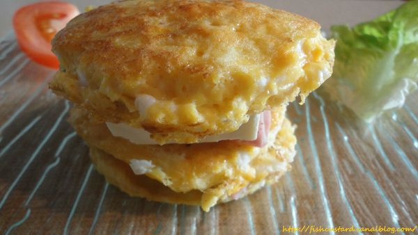 Omelette Burger jambon-kiri (2)