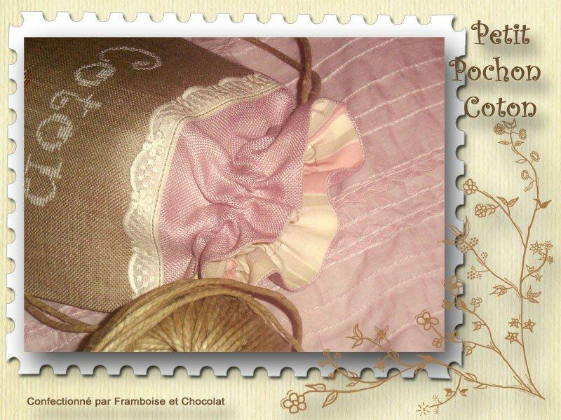 Pochon Coton... détails