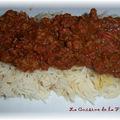 Riz sauce tomate et boeuf à l'indienne