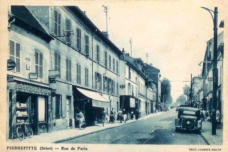 CPA Pierrefitte sur Seine Rue de Paris