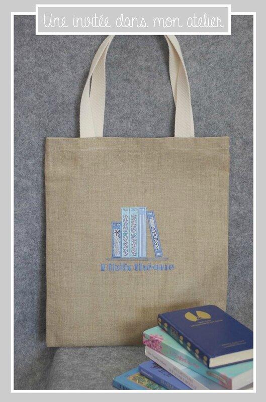 Tote bag-lin-bibliothèque-Liberty-adelajda bleu-Liberty katie and Millie bleu