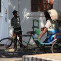 Flic et rickshaw