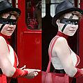 La fille en noir & rouge avant/après - gay pride - paris