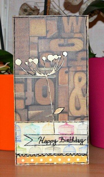 Carte d'anniversaire Nado - Février 2014