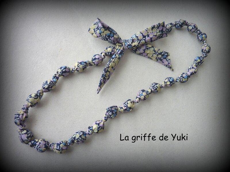 415 - Collier tissu liberty violet (1)
