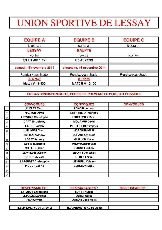 CONVOCATIONS - 2014-11-13