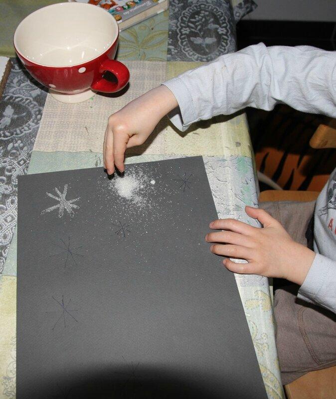 Flocons de neige en sucre