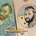 Caricature autoportrait van gogh