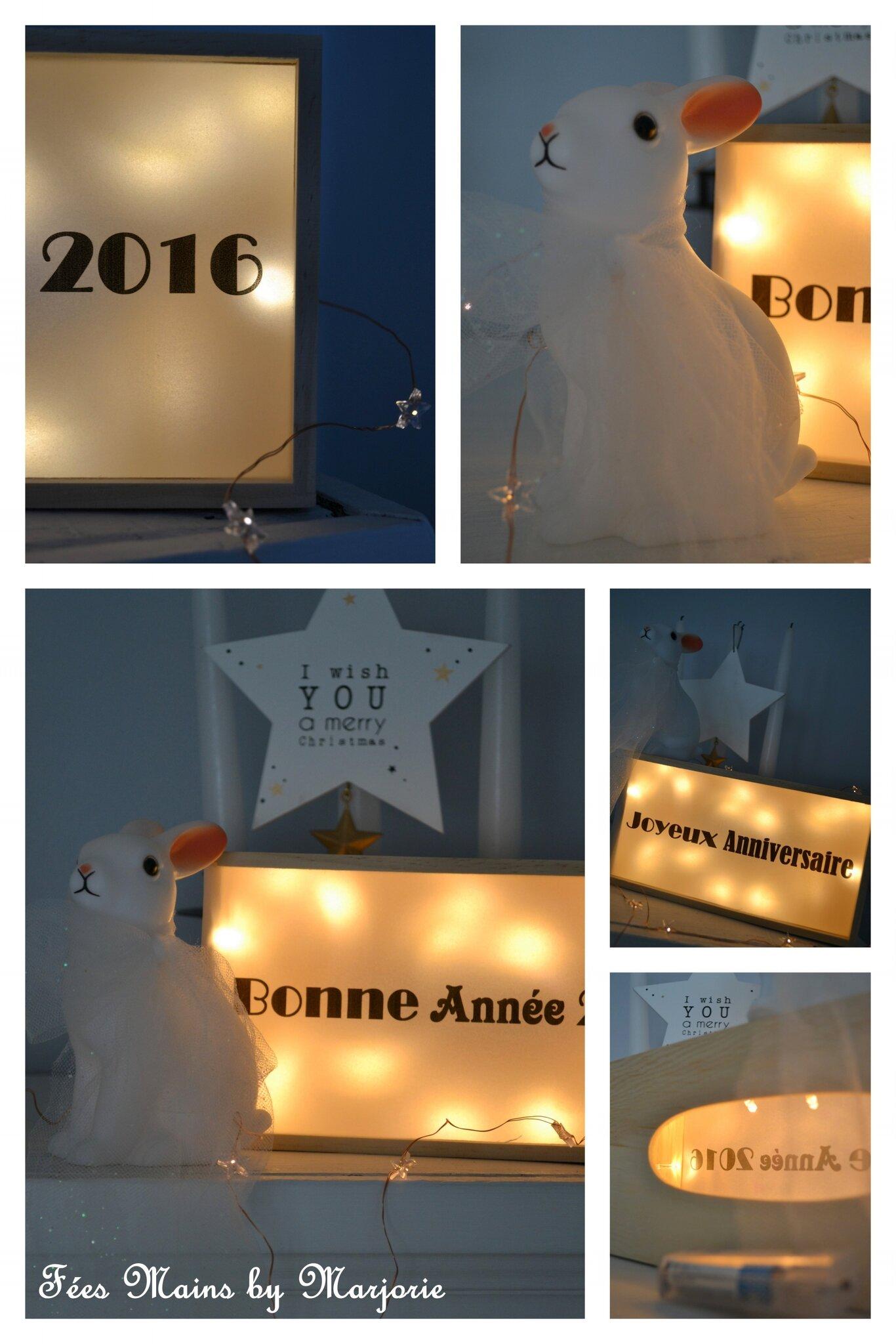 Lightbox Bonne Année et Joyeux Anniversaire