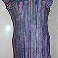 Robe jersey violet