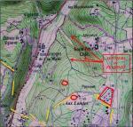 carte des sentiers de Peyrinet
