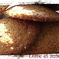 Cookies miel, fleur d'oranger, sésame