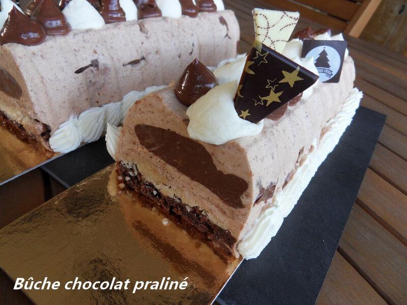 bûche chocolat praliné3