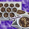 Panna cotta au chocolat, aux carambars et aux fraises tagada