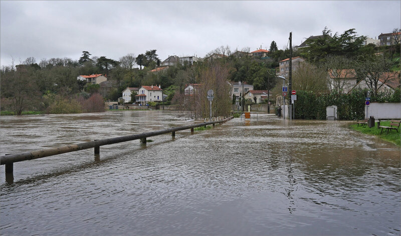 Crue Sèvre 060320 route inondée