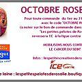 Octobre rose - encore une belle initiative de rosalie