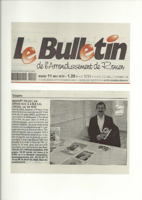 Article Bulletin du 11 mai 2010