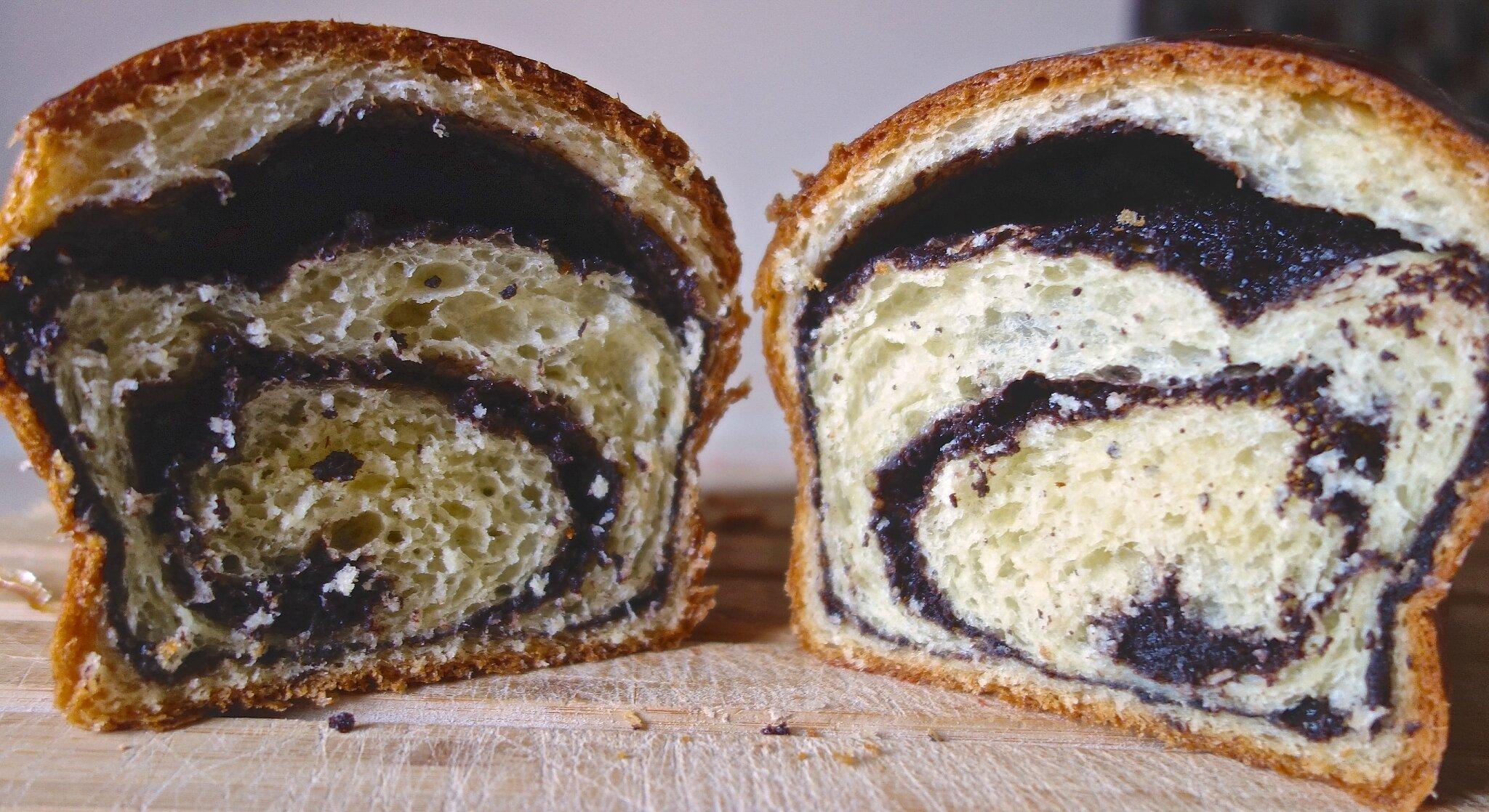 brioches bicolores : au chocolat