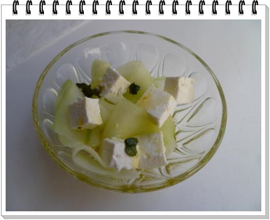 Tagliatelles de concombre a la menthe et féta1