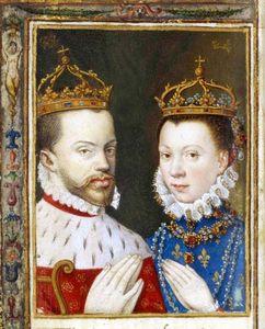 Philippe II et Elisabeth dans le livre d'heures de Catherine de Médicis, BnF