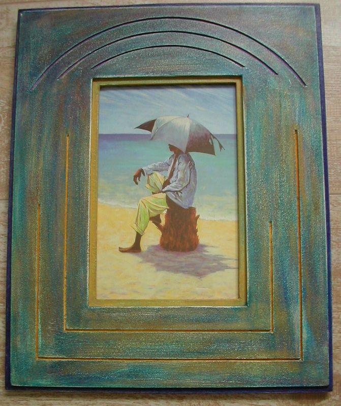 Parapluie sur mer