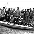 Groupe aux championnats de france de slalom en 1957 à pont d'isère