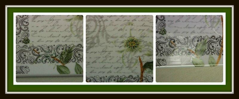 Dessous de plat décalco et fleur détail