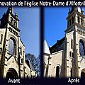 Restauration de la façade de l'église .... le résultat !