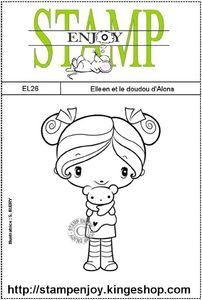 sachet 8 x 12 EL26 Elleen et le doudou d'Alona