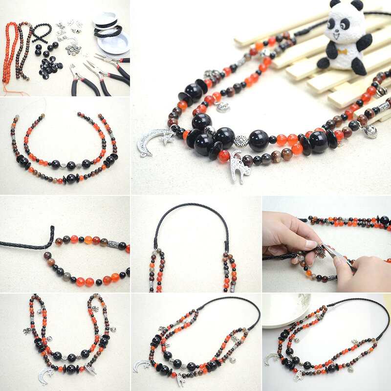 Handmade_necklace_ideas___how_to_make_a_beaded_necklace_with_agate_necklace