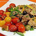 Sauté de veau aux olives et tomates cerises