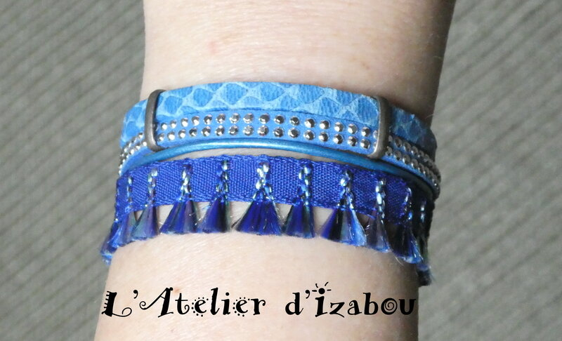 P1020734_Bracelet_multirangs_bleu_roi__multimati_res_et_pompons__fermoir_toggle_rond