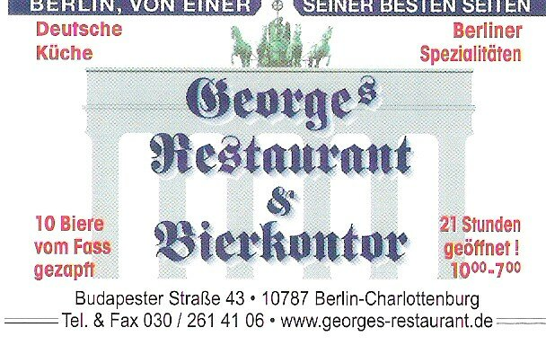 Restaurant Saint-George près d'Europa Center