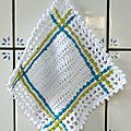 Potholder, easy to make, facile a fair