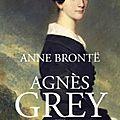 Agnes grey d'anne bronte