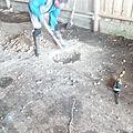 Installation de la scie à grume.