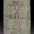 Mossgreen auction specialists discover a rare 700-year-old ming dynasty banknote inside sculpture